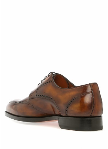 Bontoni %100 Deri Bağcıklı Klasik Ayakkabı Kahve